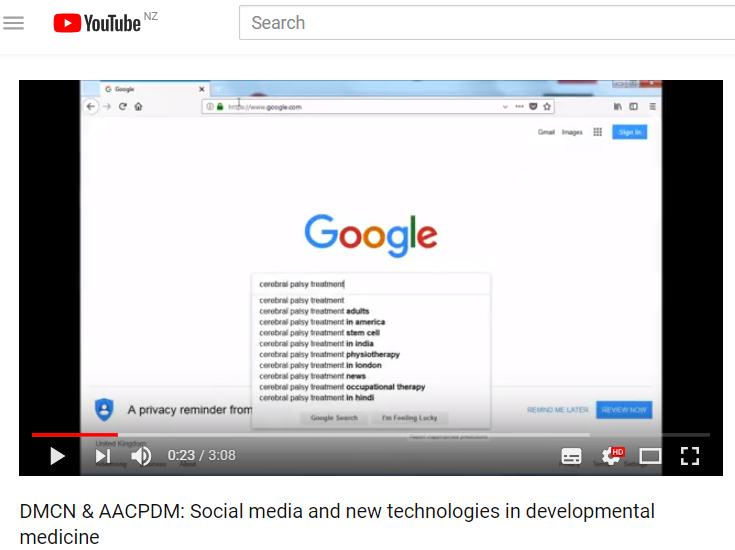 Social media and new technologies in developmental medicine